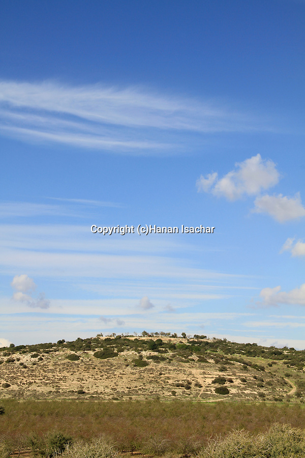 Israel, Shephelah, Khirbet Qeiyafa overlooking the Elah Valley, site of Biblical Shaaraim
