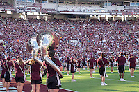 Game Day: MSU Football versus South Carolina.<br /> Band<br />  (photo by Robert Lewis / &copy; Mississippi State University)