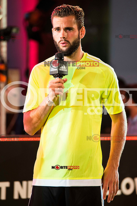 """Real Madrid player Nacho Fernandez during the presentation of the new pack of Adidas football shoes """"Speed of Light"""" in Madrid. September 16, 2016. (ALTERPHOTOS/Borja B.Hojas) /NORTEPHOTO"""