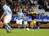 Thursday 08 August 2013<br /> Pictured: Jonathan de Guzman of Swansea (R)<br /> Re: Malmo FF v Swansea City FC, UEFA Europa League 3rd Qualifying Round, Second Leg, at the Swedbank Stadium, Malmo, Sweden.