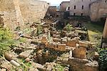 Roman archaeological site in the Alcázar de los Reyes Cristianos, Alcazar, Cordoba, Spain
