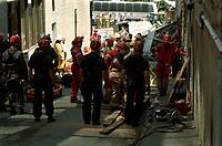 FILE PHOTO :  Gas leak explosion at Acceuil Bonneau in Old-Montreal, September 6, 1998.<br /> <br /> <br /> <br /> <br /> <br /> <br /> <br /> <br /> <br /> <br /> .