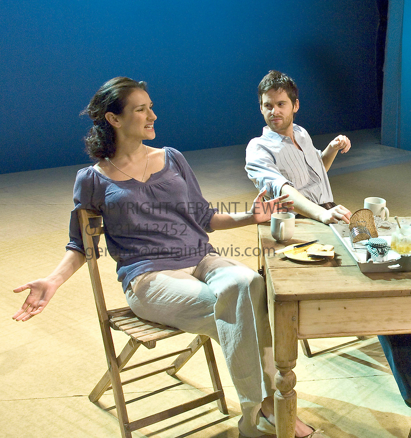 The Verical Hour by David Hare,directed by Jeremy Herrin. With Indira Varma as Nadia,Tom Riley as Philip. Opens at The Jerwood Theatre Upstairs at The Royal Court Theatre on 22/1/08. CREDIT Geraint Lewis