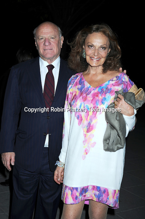Barry Diller and Diane Von Furstenberg arriving at The Vanity Fair Tribeca Film Festival Party on April 20, 2010 at The State Supreme Courthouse in New York City.