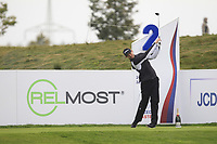 Nathan Holman (AUS) on the 2nd tee during Round 2 of the D+D Real Czech Masters at the Albatross Golf Resort, Prague, Czech Rep. 01/09/2017<br /> Picture: Golffile | Thos Caffrey<br /> <br /> <br /> All photo usage must carry mandatory copyright credit     (&copy; Golffile | Thos Caffrey)