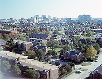 1991 August ..Redevelopment.E Ghent South (A-1-1)..Ghent Square Low/Oblique.From John Knox Towers looking Southeast toward Downtown...NEG#.NRHA#..08/91 (REDEV  :E.Ghent3:2  :1  :  FR3).
