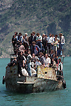 KOMAN - ALBANIA - 19 JUNE 1998 -- A ferry to Koman loaded as well with Albanian refugees from Kosovo. -- PHOTO: JUHA ROININEN / EUP-IMAGES