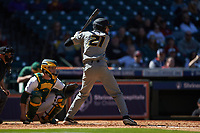 Brandt Belk (21) of the Missouri Tigers at bat against the Baylor Bears in game one of the 2020 Shriners Hospitals for Children College Classic at Minute Maid Park on February 28, 2020 in Houston, Texas. The Bears defeated the Tigers 4-2. (Brian Westerholt/Four Seam Images)