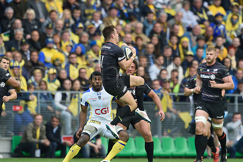 18.04.2015. Clermont-Ferrand, Auvergne, France. Champions Cup rugby semi-final between ASM Clermont and Saracens.   Chris Wyles (saracens)