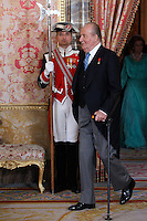 King Juan Carlos of Spain attends the reception of the diplomatic corps in Spain at Palacio Real. January 23, 2013. (ALTERPHOTOS/Caro Marin) /NortePhoto