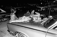 July 16, 1969., Cape Kennedy, Florida, USA --- Crowds spend the night Waiting to Watch Launch of Apollo 11 at Kennedy Space Center --- Image by © JP Laffont
