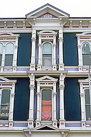 Petaluma CA: Italianate Cast Iron--detail.  Photo '83.