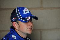 Oct. 10, 2009; Fontana, CA, USA; NASCAR Sprint Cup Series driver Kurt Busch during practice for the Pepsi 500 at Auto Club Speedway. Mandatory Credit: Mark J. Rebilas-
