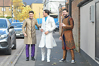 Myles Barnett , Jordan Brook & Jack Ridgen<br /> arriving for filming for the Towie Diwali party at sugar hut brentwood essex <br /> <br /> ©Richard Open snappers