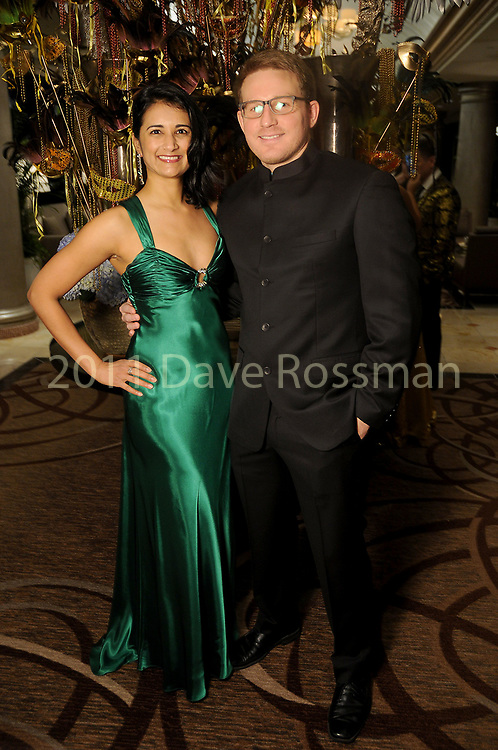 """Dr. Parul Khator and Greg Cohen at the San Luis Salute """"Hollywood Dinner Club"""" in Galveston Friday Feb. 09,2018. (Dave Rossman Photo)"""