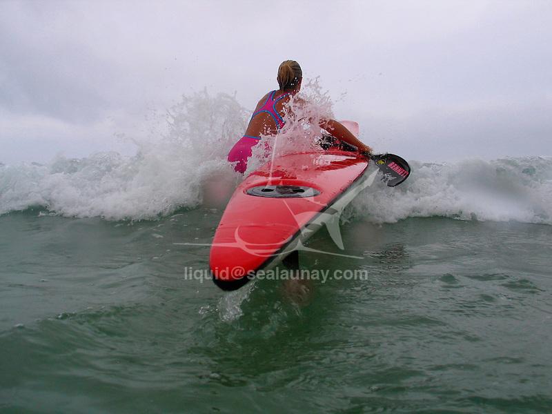 Paddle Board training at Bondi Beach.