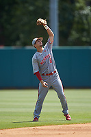 North Carolina State Wolfpack shortstop Will Wilson (8) catches a fly ball during the game against the Northeastern Huskies at Doak Field at Dail Park on June 2, 2018 in Raleigh, North Carolina. The Wolfpack defeated the Huskies 9-2. (Brian Westerholt/Four Seam Images)