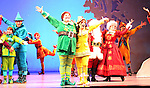 Jordan Gelber, Leslie Kritzer & Company during the First Performance Curtain Call of the Broadway Holiday Hit Musical 'Elf'  at the Al Hirschfeld  Theatre in New York City on 11/09/2012