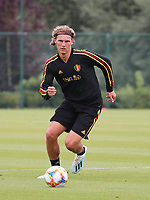 20190903 – TUBIZE , BELGIUM : Belgian Ewoud Pletinckx is pictured during a training session of the U21 youth team of the Belgian national soccer team Red Devils , a training session as a preparation for their first game against Wales in the qualification for the European Championship round in group 9 on the road for Hungary and Slovenia in 2021, Tuesday 3rd of September 2019 at the National training grounds in Tubize , Belgium. PHOTO SPORTPIX.BE | Sevil Oktem