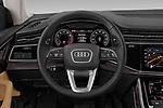 Car pictures of steering wheel view of a 2019 Audi q8 Premium Plus 5 Door SUV
