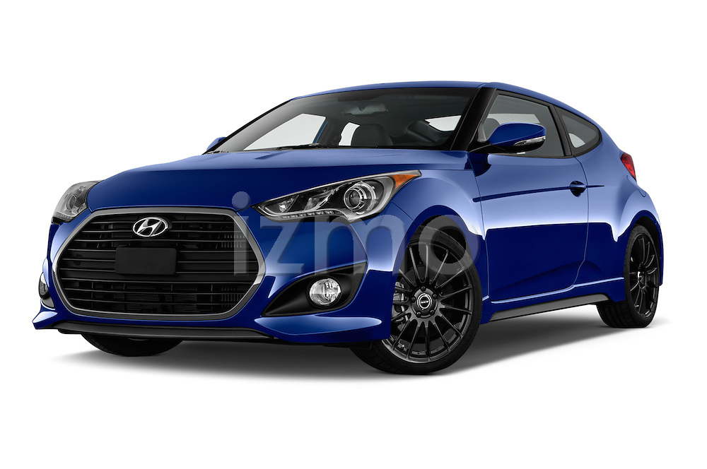 Stock pictures of low aggressive front three quarter view of 2016 Hyundai Veloster 1.6-Turbo-Manual 4 Door Hatchback Low Aggressive