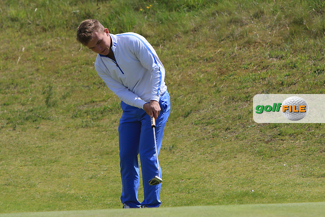 Robert Moran (Castle) on the 4th during Round 1 of the The Amateur Championship 2019 at The Island Golf Club, Co. Dublin on Monday 17th June 2019.<br /> Picture:  Thos Caffrey / Golffile<br /> <br /> All photo usage must carry mandatory copyright credit (© Golffile | Thos Caffrey)
