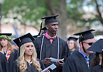 Nevada basketball star, Jerry Evans Jr, during the University of Nevada, Reno Spring Commencement Exercises on Saturday morning, May 17, 2014.