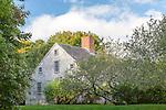 The Vincent House, (1672) in Edgartown, Marthas Vineyard, Massachusetts, USA