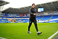 Harry Maguire of Leicester City arrives for the Premier League match between Cardiff City and Leicester City at Cardiff City Stadium in Cardiff, Wales, UK. Saturday 3rd November 2018