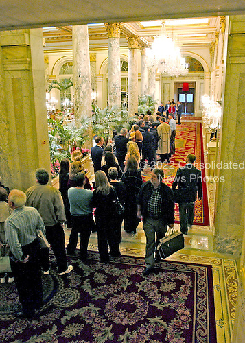 New York, N.Y. - April 10, 2005 -- Plaza Hotel, New York, New York on April 10, 2005..Credit: Ron Sachs / CNP