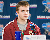 Post practice press conference: Chris Collins - The Boston College Eagles practiced on Wednesday, April 5, 2006, at the Bradley Center in Milwaukee, Wisconsin, in preparation for their 2006 Frozen Four Semi-Final game against the University of North Dakota.