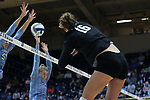 DURHAM, NC - NOVEMBER 24: Duke's Cadie Bates (16). The Duke University Blue Devils hosted the University of North Carolina Tar Heels on November 24, 2017 at Cameron Indoor Stadium in Durham, NC in a Division I women's college volleyball match. Duke won 3-0 (25-21, 25-22, 25-20).