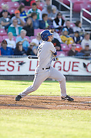 July 7, 2009: Tri-City Dust Devils' Alex Feinberg at-bat during a Northwest League game against the Salem-Keizer Volcanoes at Volcanoes Stadium in Salem, Oregon.