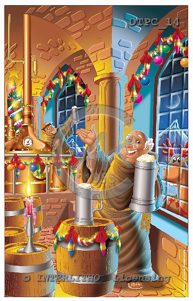 Eberle, Comics, CHRISTMAS SANTA, SNOWMAN, paintings, DTPC14,#X# Weihnachten, Navidad, illustrations, pinturas
