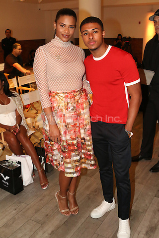 NEW YORK, NY - SEPTEMBER 13: Kamie Crawford and Diggy Simmons pictured at the Vipe Activewear Fashion Show featuring Vipe Noir by Angela Simmons at KIA Style 360 during New York Fashion Week on September 13, 2016. Credit: Walik Goshorn/MediaPunch