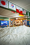 Mount McKinley and its surrounding peaks of the Alaska Range as a room-size model in Mountain Exhibit room at Talkeetna Historical Society's Museum, Talkeetna, Southcentral Alaska.