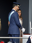 The Princes of Spain Letizia y Felipe attend the National Day Military Parad.October 12,2012.(ALTERPHOTOS/Acero)