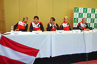 Austria, Kitzbuhel, Juli 16, 2015, Tennis, Davis Cup, Draw, Austrian team<br /> Photo: Tennisimages/Henk Koster