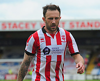 Lincoln City's Neal Eardley<br /> <br /> Photographer Andrew Vaughan/CameraSport<br /> <br /> The EFL Sky Bet League Two Play Off First Leg - Lincoln City v Exeter City - Saturday 12th May 2018 - Sincil Bank - Lincoln<br /> <br /> World Copyright &copy; 2018 CameraSport. All rights reserved. 43 Linden Ave. Countesthorpe. Leicester. England. LE8 5PG - Tel: +44 (0) 116 277 4147 - admin@camerasport.com - www.camerasport.com