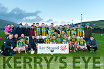 The Lios Póil team celebrating after winning the West Kerry Senior League against An Ghaeltacht on Saturday afternoon.