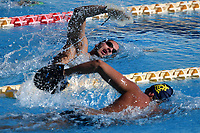Mattia Zuin and Stefano Di Cola swim during a training session.  <br /> Italian athletes were able to resume training last week after more than 50 days of lockdown due to the coronavirus (covid-19) pandemic <br /> Roma 12-5-2020 Centro Federale di Ostia <br /> Photo Andrea Staccioli / Deepbluemedia / Insidefoto
