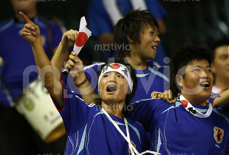 Fussball International Frauen WM China 2007  Japan - England JPN Fans jubeln