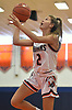 Elizabeth Taylor #2 of Manhasset drives to the net during a non-league girls basketball game against Farmingdale at Manhasset High School on Saturday, Dec. 8, 2018. Manhasset won by a score of 50-33.