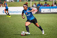 Kansas City, MO - Wednesday August 16, 2017: Desiree Scott during a regular season National Women's Soccer League (NWSL) match between FC Kansas City and the Orlando Pride at Children's Mercy Victory Field.