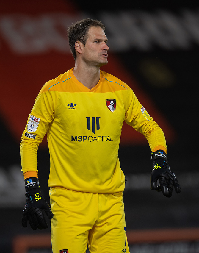 Bournemouth's Asmir Begovic<br /> <br /> Photographer David Horton/CameraSport<br /> <br /> Carabao Cup Second Round Southern Section - Bournemouth v Crystal Palace - Tuesday 15th September 2020 - Vitality Stadium - Bournemouth<br />  <br /> World Copyright © 2020 CameraSport. All rights reserved. 43 Linden Ave. Countesthorpe. Leicester. England. LE8 5PG - Tel: +44 (0) 116 277 4147 - admin@camerasport.com - www.camerasport.com