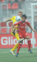 Carlos Ruiz (25) of Toronto FC in action at BMO Field where the Toronto FC played hosts to the Columbus Crew on Saturday September 13, 2008. .The game ended in a 1-1 draw.