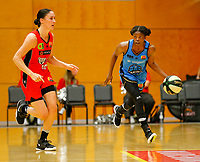 29th December 2019; Bendat Basketball Centre, Perth, Western Australia, Australia; Womens National Basketball League Australia, Perth Lynx versus Canberra Capitals; Olivia Epoupa of the Canberra Capitals dribbles the ball down the court from defence - Editorial Use