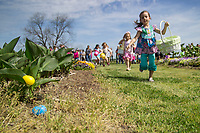 Children enjoyed a traditional egg hunt Saturday [April 15] at the Mississippi State Trial Gardens, where the day's activities included games, prizes and a special visit from the Easter Bunny. <br />  (photo by Sarah Dutton / &copy; Mississippi State University)