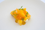 Orange with white chocolate, olive oil and bergamot