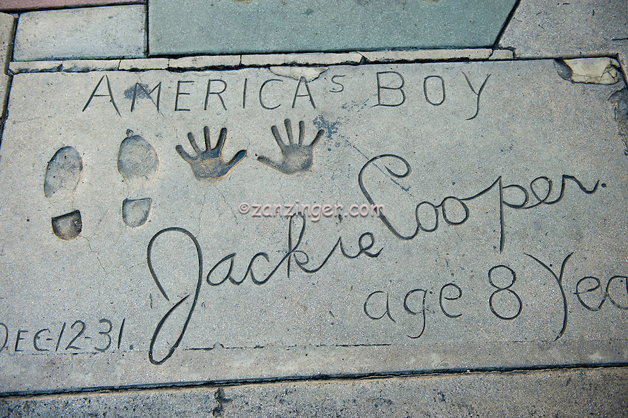 Jackie Cooper, Hand - Footprint, Impressions, Grauman's, Chinese, Theater, Hollywood, CA, American, actor, TV, director, TV producer, executive